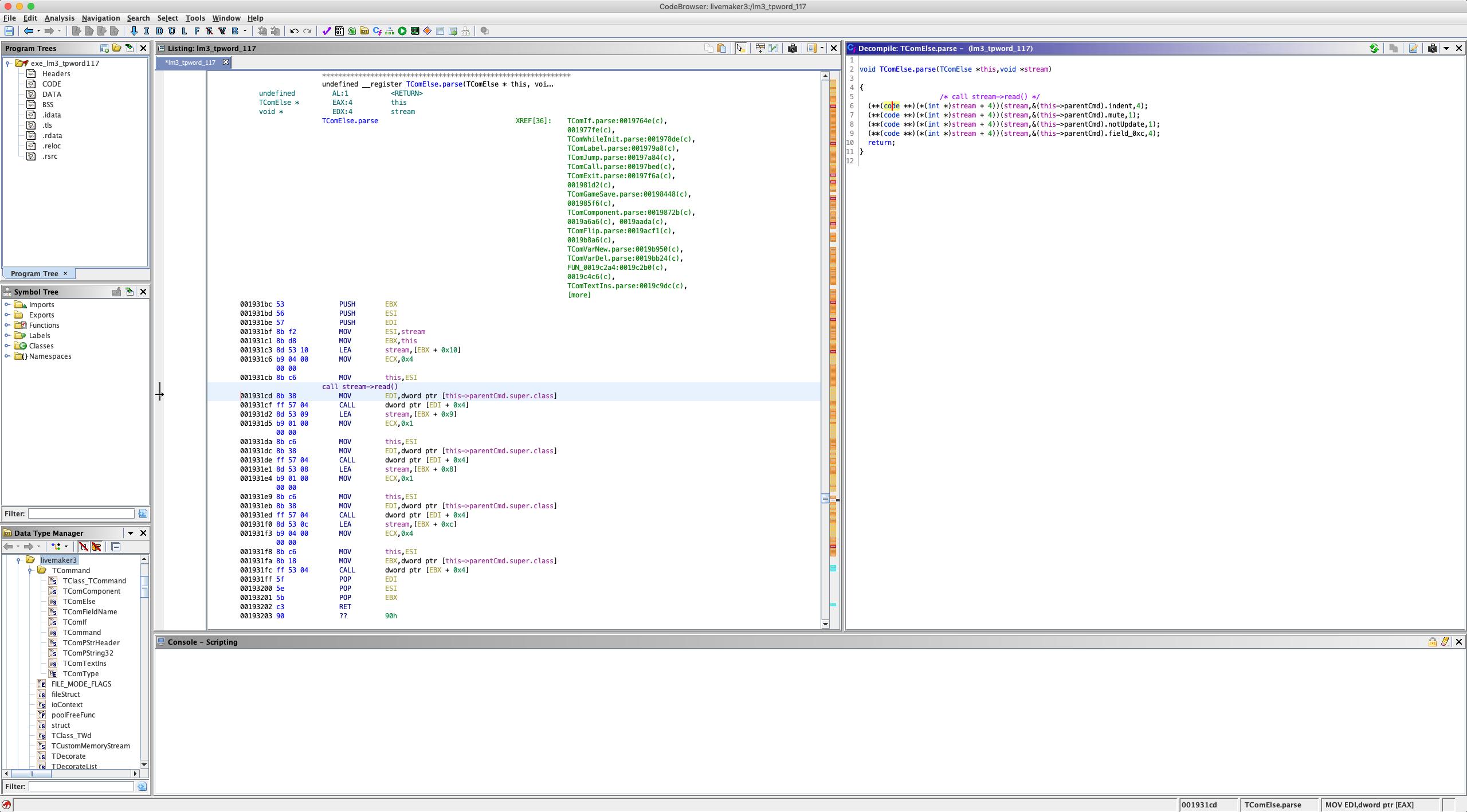 Reverse Engineering LiveMaker/LiveNovel